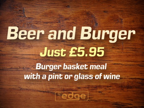 Beer and Burger deal