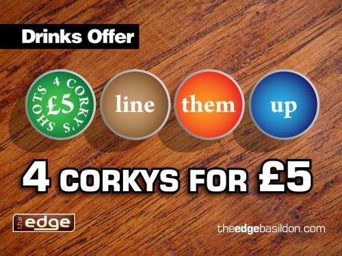 Corkys Shots Deal